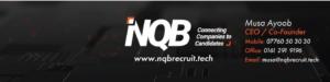 NQB Recruitment logo and contact details image